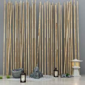 新中式竹子3D模型【ID:136219424】
