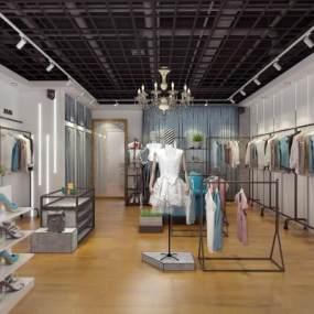 现代女装店3D模型【ID:153133072】