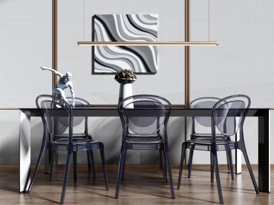 现代轻奢简约餐桌椅
