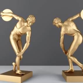 北欧人物雕塑3D模型【ID:335806054】