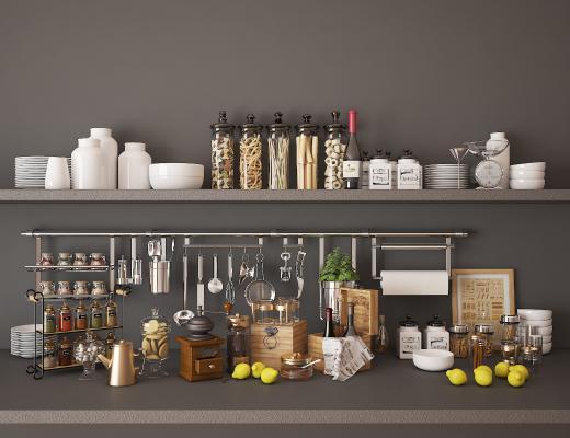 现代厨房用品餐具摆件