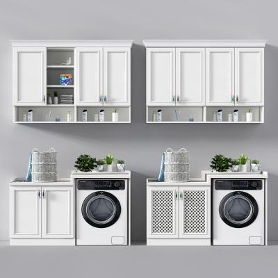 欧式洗衣机柜藤篮衣服摆件