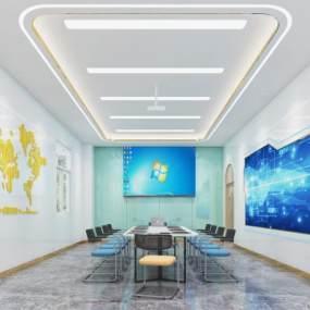 现代风格会议室3D模型【ID:953452149】