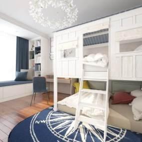 現代臥室3D模型【ID:548863249】