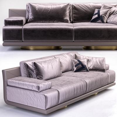 意大利Fendi芬迪現代布藝雙人沙發國外3D模型【ID:632560519】