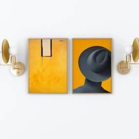 现代装饰壁灯组合3D模型【ID:736148939】