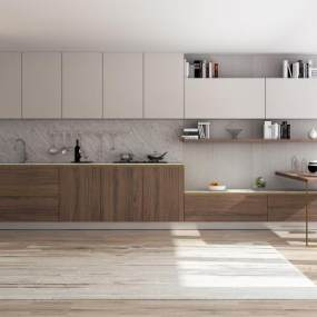 現代廚房3D模型【ID:550633344】