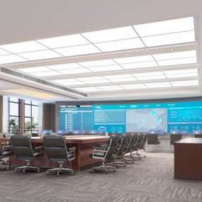 现代国家电网控制中心3D模型【ID:932934171】