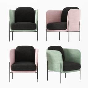 北欧休闲椅3D模型【ID:753239054】