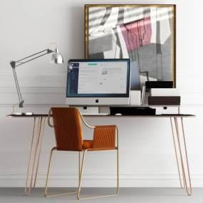 现代书桌椅 3D模型【ID:940936086】