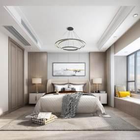 现代卧室3D模型【ID:549424203】