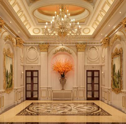 法式酒店大堂3D模型【ID:741833073】