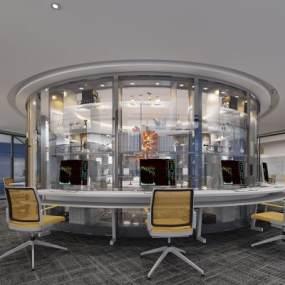 现代办公室3D模型【ID:934670057】