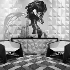 现代异形椅子3D模型【ID:730747092】