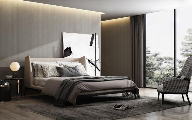 现代卧室3D模型【ID:544161270】