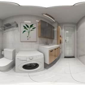 现代北欧家装全景3D模型【ID:530431023】