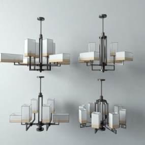 新中式吊燈3D模型【ID:747785822】