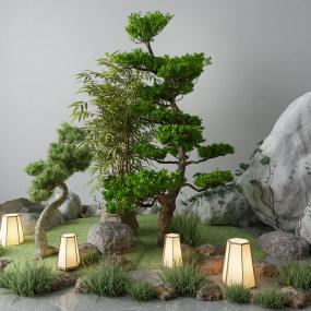 新中式景观小品3D模型【ID:153412424】