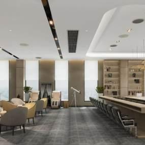 现代大型工装会议室3D模型【ID:953768104】