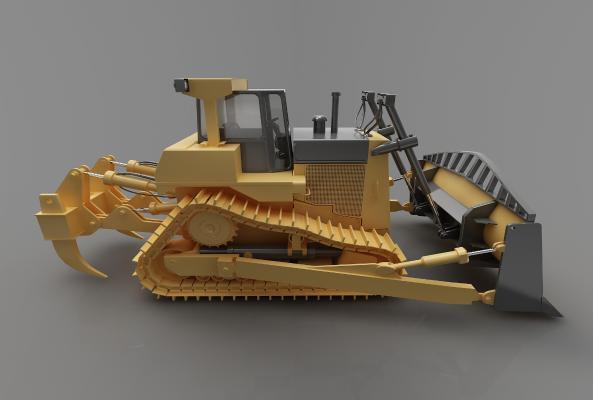 现代风格推土车3D模型【ID:443547783】