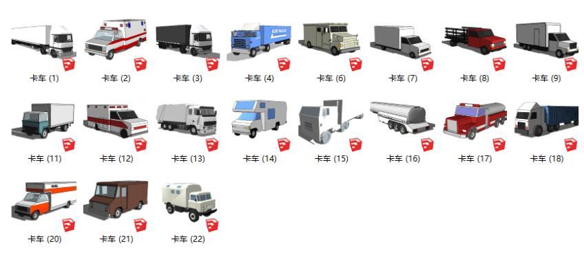 現代卡車SU模型【ID:252122011】