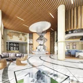 现代售楼大厅3D模型【ID:532471072】