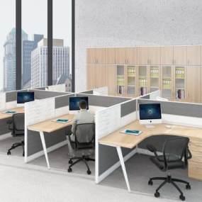 现代办公桌3D模型【ID:953918084】