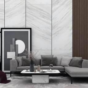 现代多人沙发3D模型【ID:645532719】
