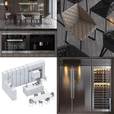 現代櫥柜3D模型【ID:143690792】