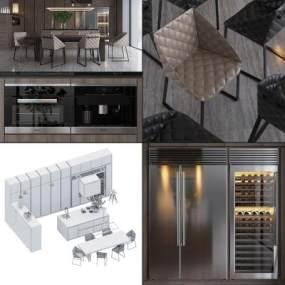 现代橱柜3D模型【ID:143690792】