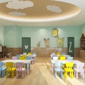 北欧幼儿园3D模型【ID:950663699】