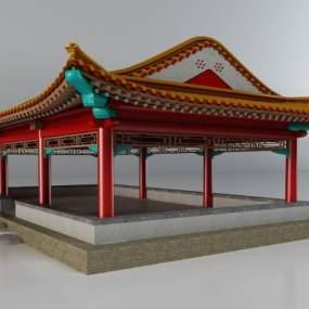 古建筑涼亭 3D模型【ID:240643100】