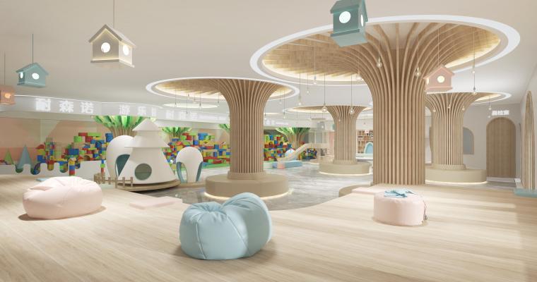现代幼儿园大厅3D模型【ID:943264683】