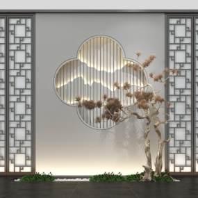 新中式园艺小品3D模型【ID:137211435】