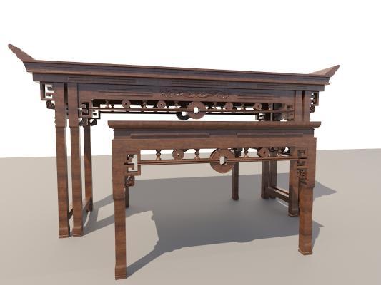 八仙桌3D模型【ID:932219570】