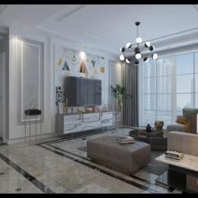 现代简约家装客厅3D快三追号倍投计划表【ID:534170044】