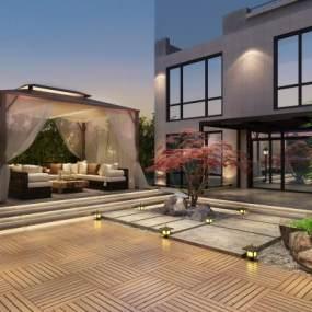 新中式花园3D模型【ID:135723449】