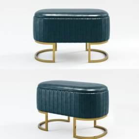 现代沙发凳3D模型【ID:734856691】
