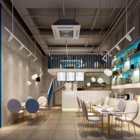 现代咖啡店3D模型【ID:634852325】