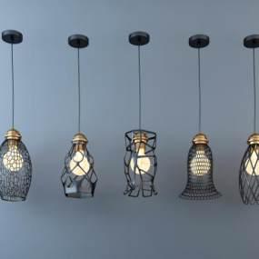 现代吊灯灯具 3D模型【ID:741540856】