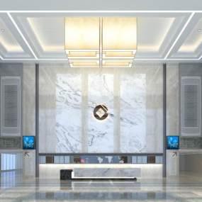 現代辦公大廳3D模型【ID:134790232】