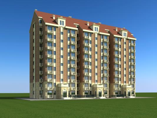 北歐高層住宅3D模型【ID:130862790】