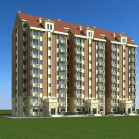 北欧高层住宅3D模型【ID:130862790】