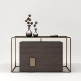 現代玄關柜裝飾柜隔斷柜飾品3D模型【ID:153000060】