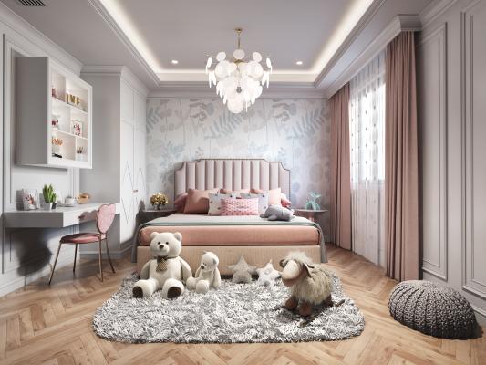 现代卧室3D模型【ID:552304204】