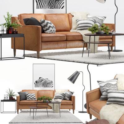 现代室内沙發国外3D模型【ID:632081724】