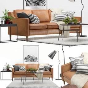 现代室内沙发国外3D模型【ID:632081724】