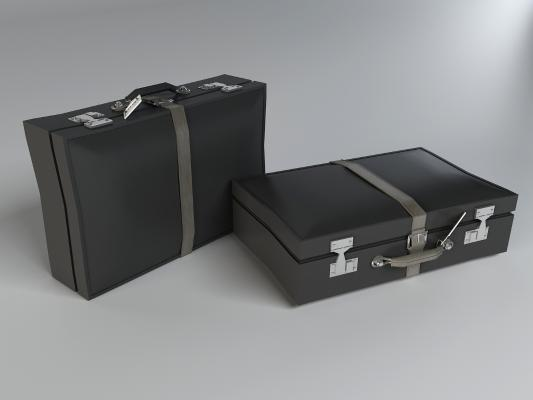 皮箱,手提錢箱3D模型【ID:440642096】