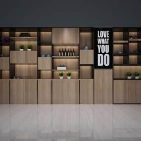 现代书柜3D模型【ID:630682203】