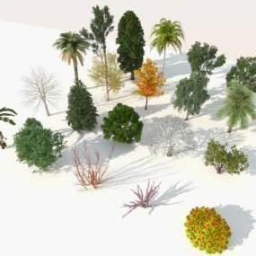 现代室外20棵精品树木组合3D模型【ID:247313883】